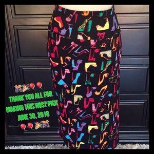 LulaRoe Cassie Stilettos Design Skirt